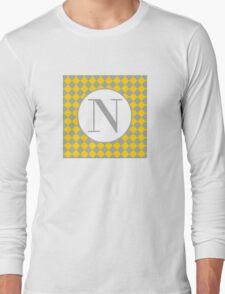 N Checkard Long Sleeve T-Shirt