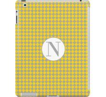 N Checkard iPad Case/Skin