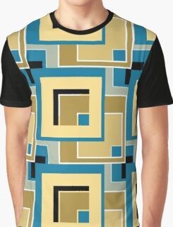Abstract modern squares seamless pattern retro colors Graphic T-Shirt