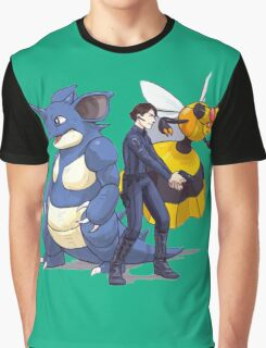 Nidoking Pokemon Detective Graphic T-Shirt