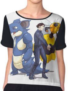 Nidoking Pokemon Detective Chiffon Top