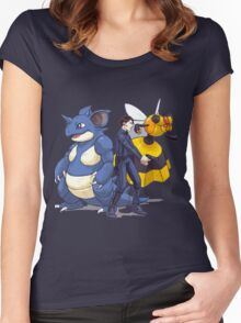 Nidoking Pokemon Detective Women's Fitted Scoop T-Shirt