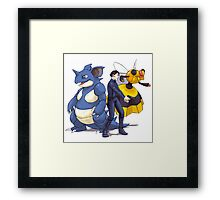 Nidoking Pokemon Detective Framed Print