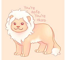 """You're Safe,  You're Okay"" Pastel Lion Photographic Print"