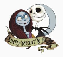Jake and Sally Nightmare Before Christmas Love One Piece - Short Sleeve