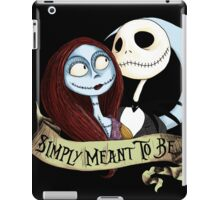 Jake and Sally Nightmare Before Christmas Love iPad Case/Skin