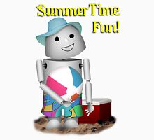 A Day at the Beach for Robo-x9 Unisex T-Shirt