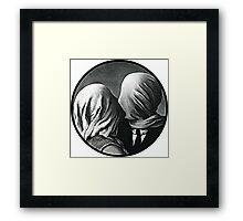 the non-color lovers Framed Print