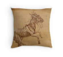Draconic Equid Throw Pillow