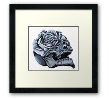 Skull Rose Morph Framed Print