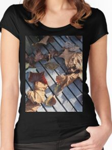 Autumn Leaves Two Women's Fitted Scoop T-Shirt