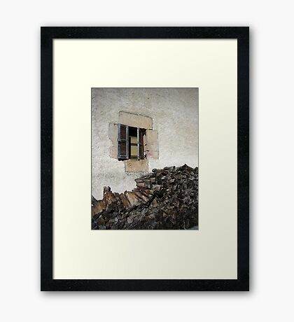 Country Window Framed Print