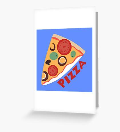 Dewey's Pizza Shirt Greeting Card