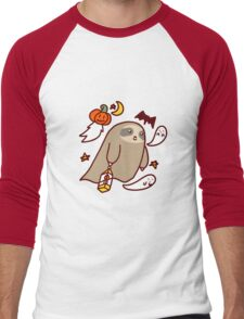 Halloween Ghost Sloth Men's Baseball ¾ T-Shirt