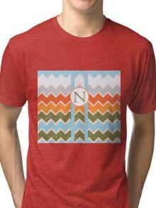 N Chevron Tri-blend T-Shirt