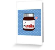Cute Nutella jar Greeting Card