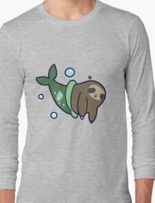 Mermaid Sloth Long Sleeve T-Shirt