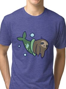 Mermaid Sloth Tri-blend T-Shirt