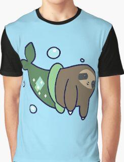 Mermaid Sloth Graphic T-Shirt
