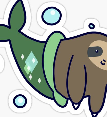 Mermaid Sloth Sticker