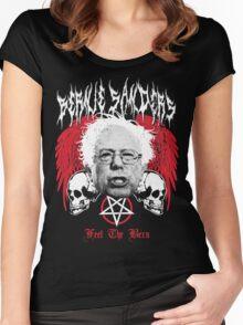 FEEL THE BERN Heavy Metal Bernie Sanders Shirt Women's Fitted Scoop T-Shirt