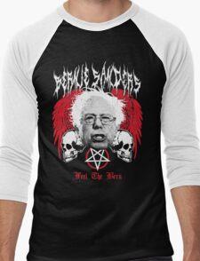 FEEL THE BERN Heavy Metal Bernie Sanders Shirt Men's Baseball ¾ T-Shirt