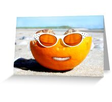 Beached Orange Greeting Card