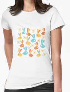 Easter Modern Twist Pattern Womens Fitted T-Shirt