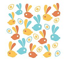 Easter Modern Twist Pattern Photographic Print