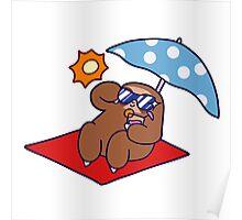 Summer Sloth Poster