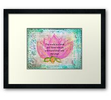 Saint Augustine BOOK Travel Quote Framed Print