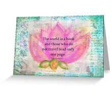 Saint Augustine BOOK Travel Quote Greeting Card