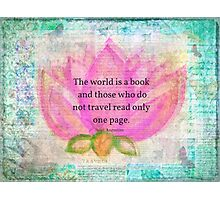 Saint Augustine BOOK Travel Quote Photographic Print
