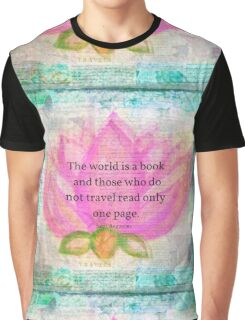 Saint Augustine BOOK Travel Quote Graphic T-Shirt