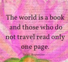 Saint Augustine BOOK Travel Quote Sticker