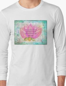 Saint Augustine BOOK Travel Quote Long Sleeve T-Shirt