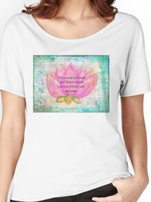 Saint Augustine BOOK Travel Quote Women's Relaxed Fit T-Shirt