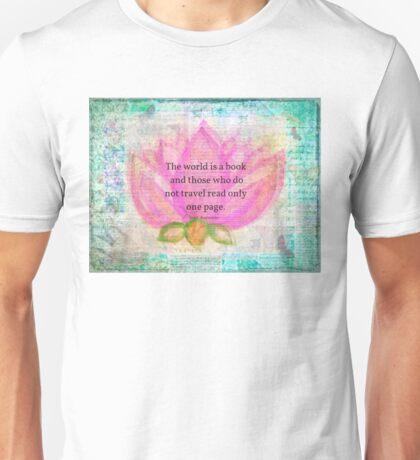 Saint Augustine BOOK Travel Quote Unisex T-Shirt
