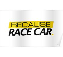 Because Race Car Poster