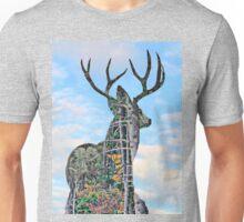 Deer and pine merge 2 Unisex T-Shirt