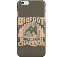 Bigfoot - Hide & Seek Champion iPhone Case/Skin