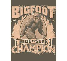 Bigfoot - Hide & Seek Champion Photographic Print