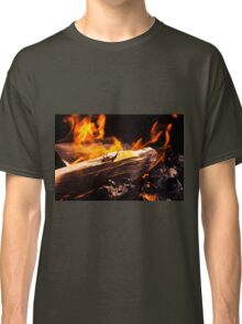 Burning Fire With Wood Classic T-Shirt