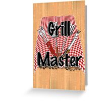 Grillmaster BBQ Tools and Picnic Table Greeting Card