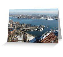 Boston's Long Wharf Greeting Card