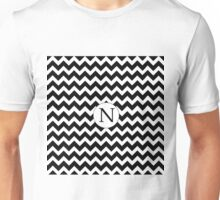 N Black Chevron Unisex T-Shirt