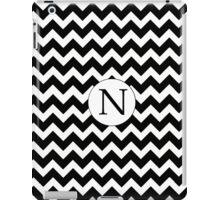 N Black Chevron iPad Case/Skin