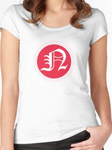 Red N Chevron Women's Fitted Scoop T-Shirt
