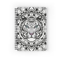 Mandala white tiger Spiral Notebook