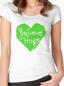 Believe In Hope Women's Fitted Scoop T-Shirt